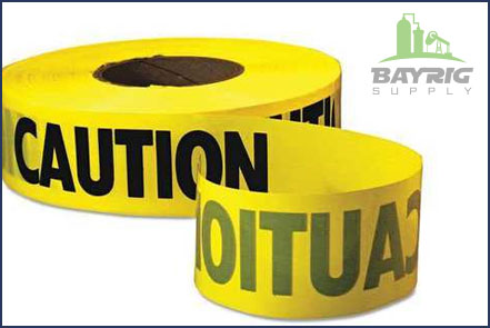caution tape from bayrig supply