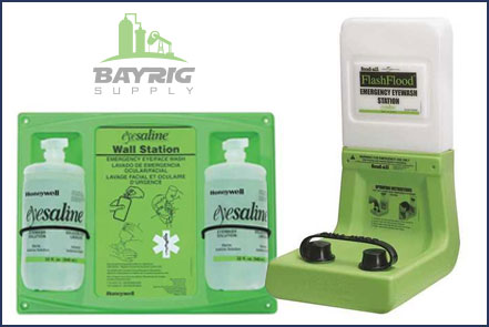 eye wash stations and supplies from BayRig Supply