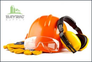 contractor supplies like protective clothing, gloves, boots, and safety glasses from BayRig Supply