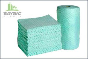 absorbent pads and rolls from BayRig Supply