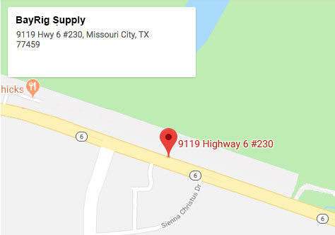 Map of where BayRig Supply is located in Texas