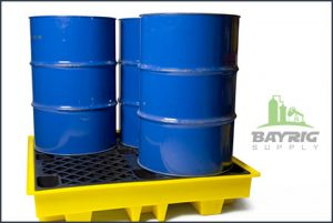poly drums and spill pallets from BayRig Supply