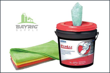 Wipes, Rags, and Cleaners from BayRig Supply